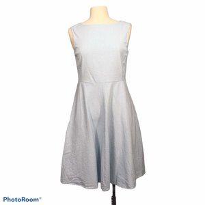 Old Navy Blue White Seersucker A-Line Dress 10